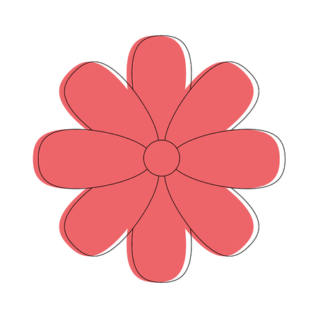 flower icon over white background vector illustration
