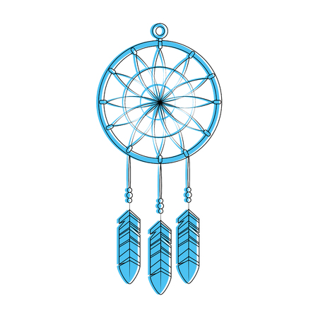 dream catcher icon over white background vector illustration Illusztráció