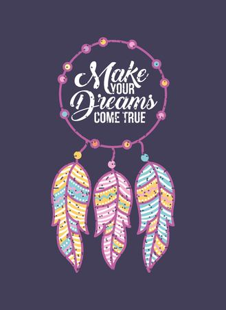 Make your dreams background icon vector illustration design graphic Иллюстрация