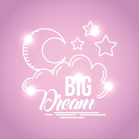 Dream image background icon vector illustration design graphic