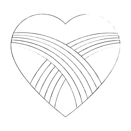 Heart and love icon vector illustration graphic design