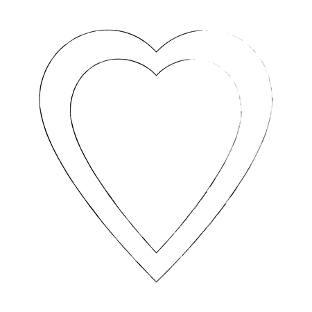 Heart and love icon vector illustration graphic design Stock fotó - 83821277
