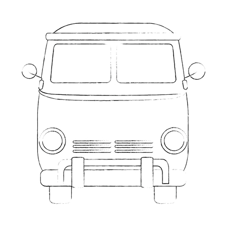 Hippie bus van icon vector illustration graphic design