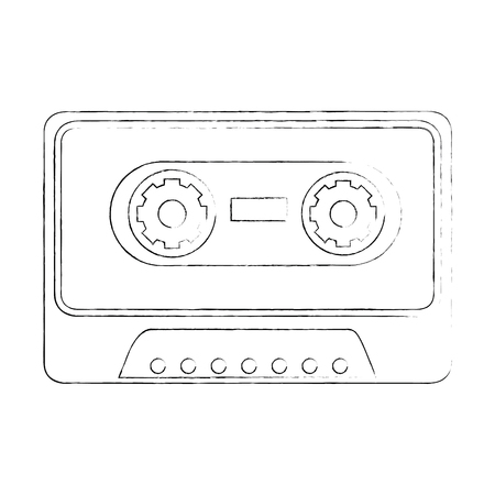 Old music cassette icon vector illustration graphic design