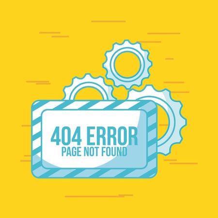 Page not found 404 error vector icon illustration design graphic