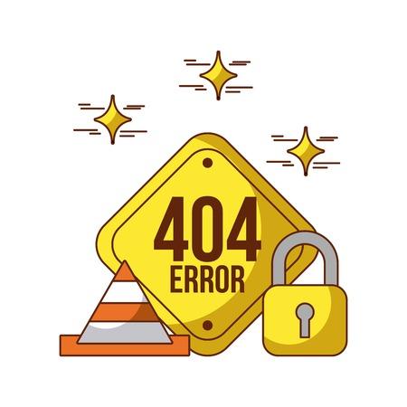 404 エラーの背景アイコン ベクトル イラスト デザイン グラフィック