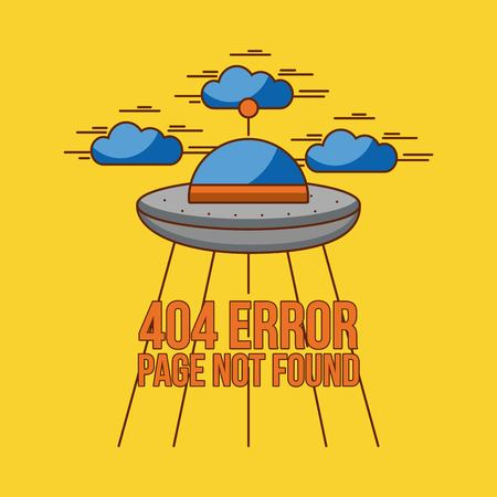 Page not found 404 error vector icon illustration design graphic