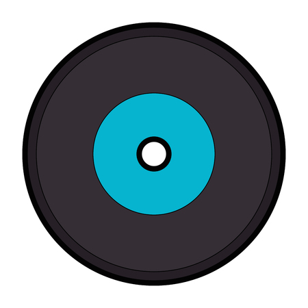 Music vinyl isolated icon vector illustration graphic design Illustration