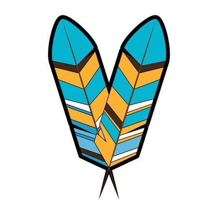 Bird feather symbol icon vector illustration graphic design 向量圖像