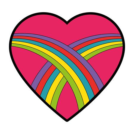 마음과 사랑 아이콘 벡터 일러스트 그래픽 디자인