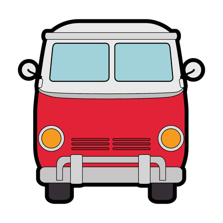 Hippie bus van icon vector illustration graphic design