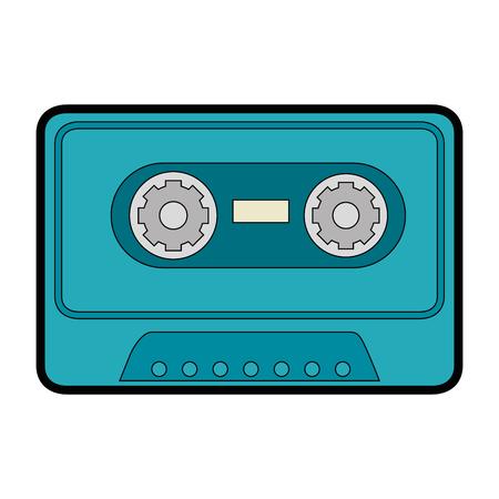 古い音楽カセットのアイコン ベクトル イラスト グラフィック デザイン  イラスト・ベクター素材
