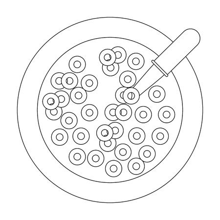Cereal bowl icon vector illustration Illustration