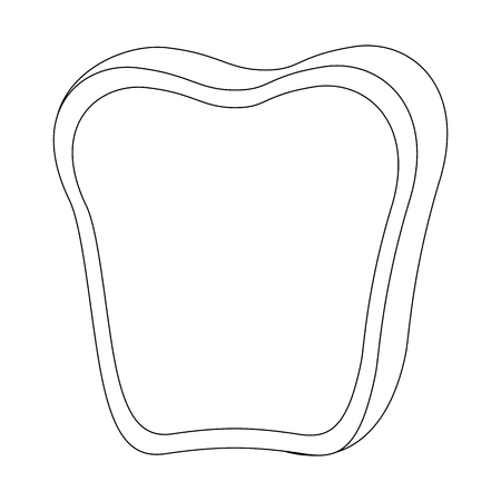 Loaf and butter icon over white background vector illustration. Illustration