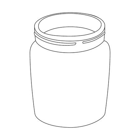glazen fles pictogram over witte achtergrond vectorillustratie Stock Illustratie