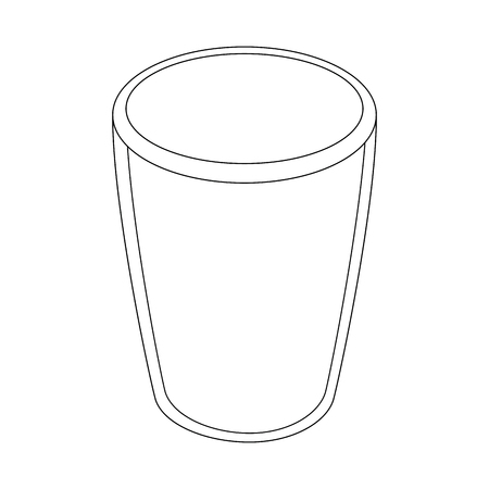 ガラスのアイコン ベクトル図