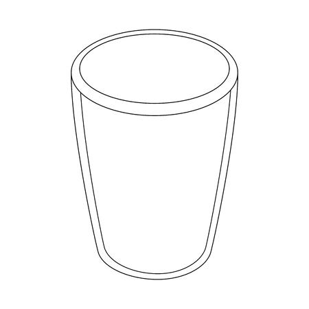 Ilustración de vector de icono de vidrio Foto de archivo - 83820648