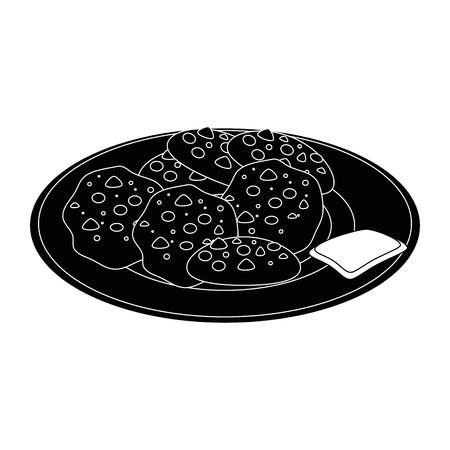 白い背景のベクトル図にチョコレート チップ クッキーのアイコン