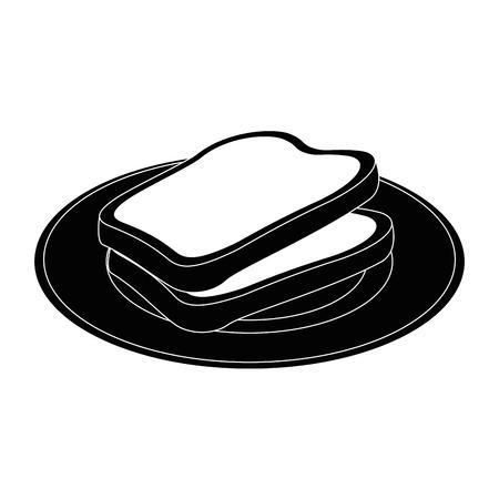 로프 및 버터 아이콘 일러스트