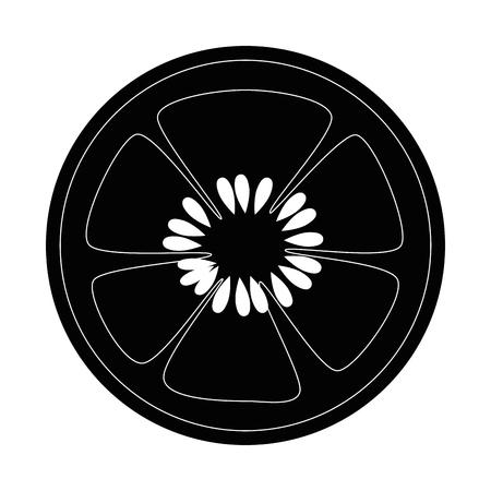 흰색 배경 벡터 일러스트 레이 션 위에 오이 슬라이스 아이콘