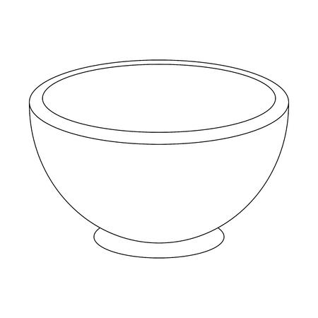 ボウルのアイコン ベクトル図