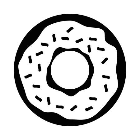 sweet donut icon over white background vector illustration Ilustrace