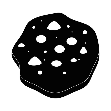 Chocolate chip cookie icon vector illustration