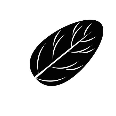 ほうれん草の葉のアイコン ベクトル図
