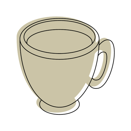Koffie mok pictogram over witte achtergrond vector illustratie