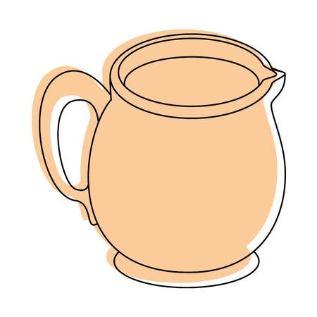 Milk pitcher icon vector illustration