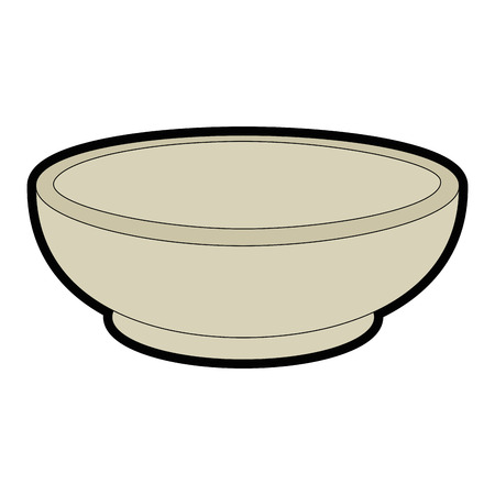 Bowl icon over white background vector illustration