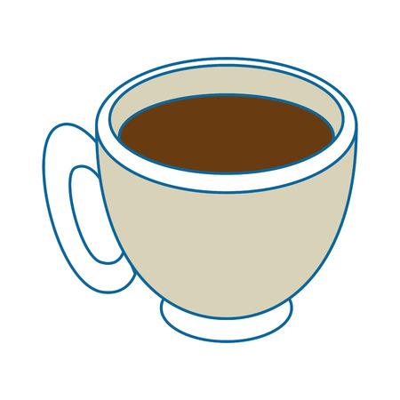 Coffee mug icon over white background vector illustration Illustration