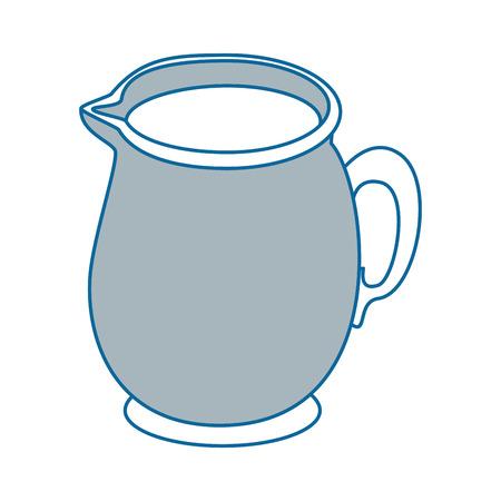 Milk pitcher icon over white background vector illustration.