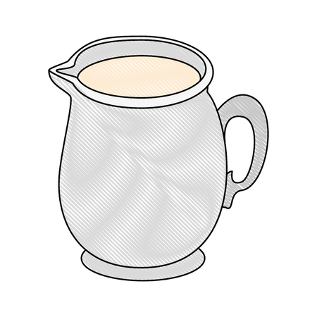 Milk pitcher icon over white background vector illustration Imagens - 83818597