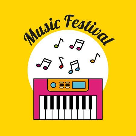 クラシック音楽祭アイコン ベクトル イラスト デザイン グラフィック