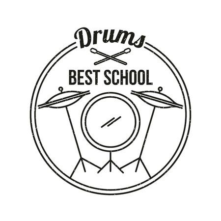 Muzikale concert drums achtergrond icoon vector illustratie ontwerp grafisch Stock Illustratie