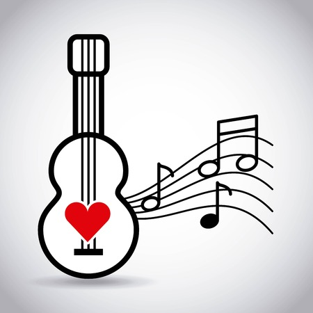 Grappig klassiek muziek achtergrond grafisch ontwerp van de pictogram het vectorillustratie
