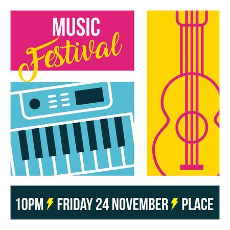 Klassieke muziek festival icon vector illustratie ontwerp grafisch