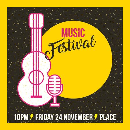 Classical music festival icon vector illustration design graphic