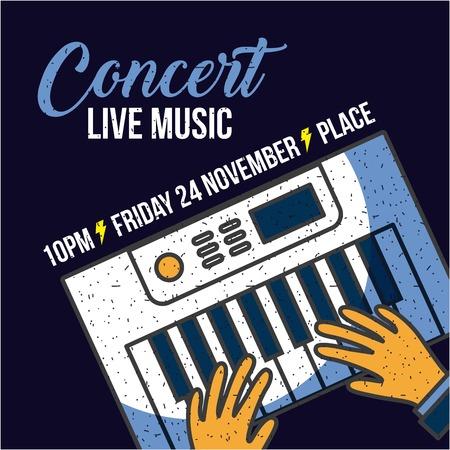 live music concert icon vector illustration design graphic