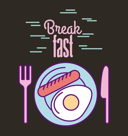 ontwerp van de het pictogram het vectorillustratie van het onderbrekende snelle voedselpictogram grafisch Stock Illustratie
