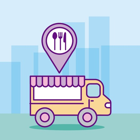 fast food truck icon vector illustration design graphic