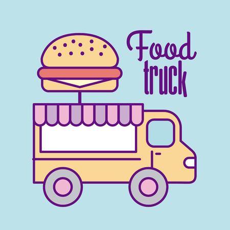 fast food truck icon vector illustration design graphic
