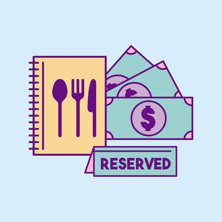 Restaurant icône de nourriture réservé illustration vectorielle conception graphique Banque d'images - 83819051