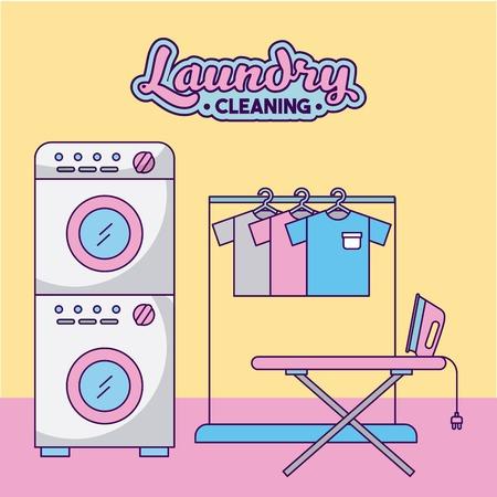 Ontwerp van de het pictogram vectorillustratie van de wasserij het schoonmakende gevoelige