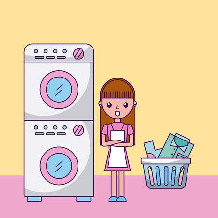 Laundry work clothes icon vector illustration design graphic