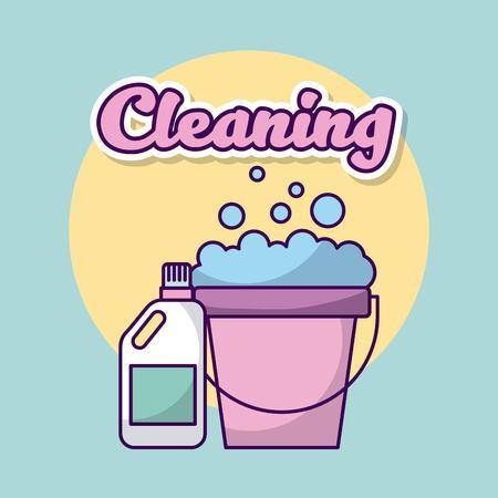 Wasserette schoonmaak kleren pictogram vector illsutration ontwerp afbeelding Stockfoto - 83819199