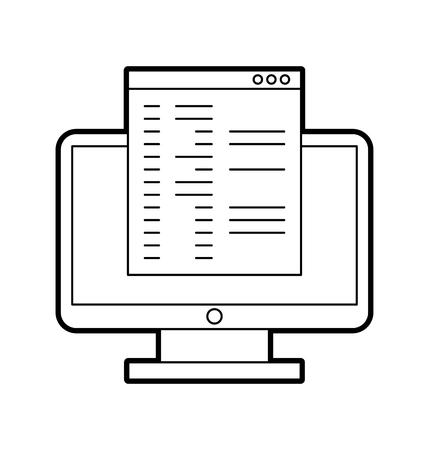 テンプレート ベクトル イラスト デザインとコンピューターのデスクトップ
