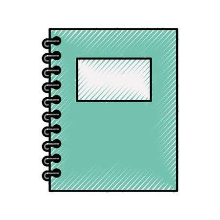 notebook school geïsoleerd pictogram vector illustratie ontwerp Stock Illustratie