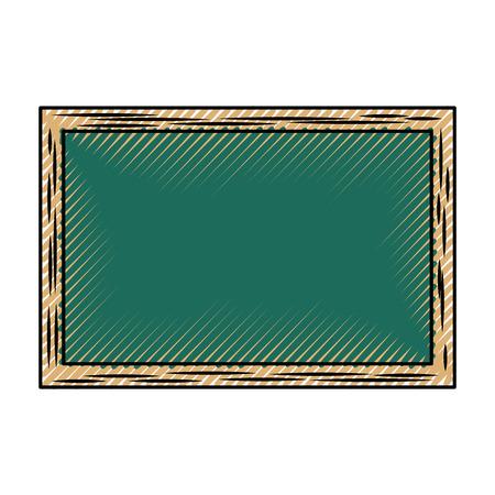 chalkboard school isolated icon vector illustration design